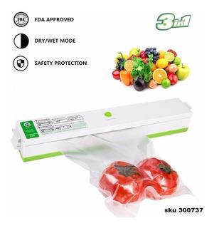 Empacadora Selladora Alimentos Al Vacio Portatil +bolsas W01