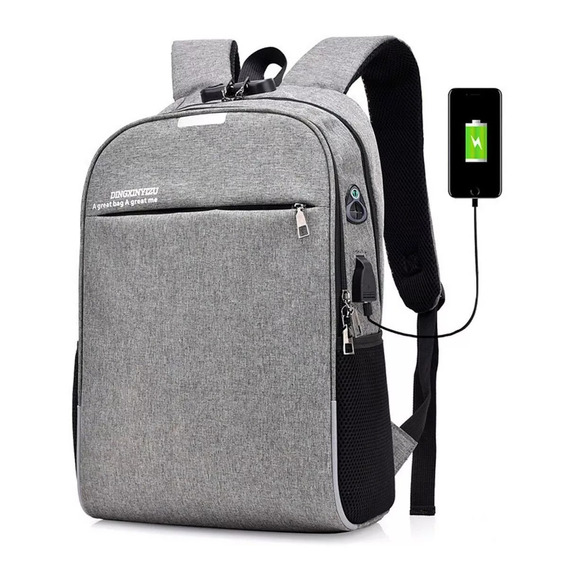 Mochila Anti Furto Roubo Notebook Laptop Usb Executiva