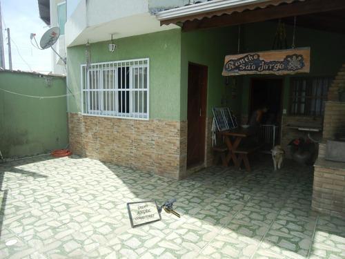 Sobrado A Venda No Bairro Jardim Real Em Praia Grande - Sp.  - 3421-1
