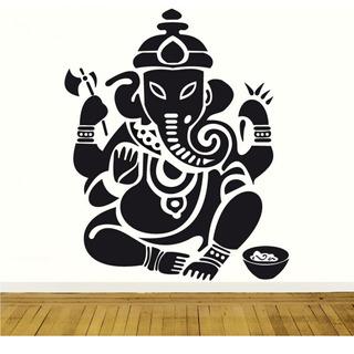 Vinilo Decorativo Elefante Buda Relax 10mil Diseños