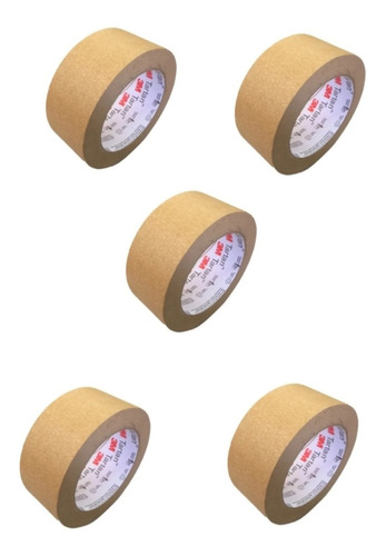 Fitas Adesiva Kraft Papel Crepado 2563 45mmx50m - 3m - 5un