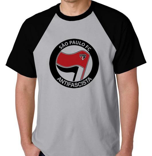 Camiseta Raglan Camisa Blusa Sao Paulo Antifascista Antifa