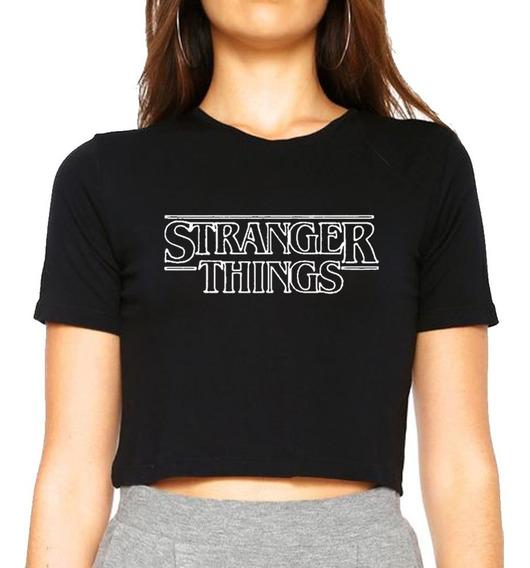 Cropped Camiseta, Stranger Things Mod Vazado Promoção Imperdivel!