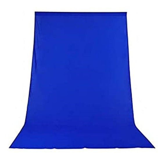 Tecido 3x4 Azul Fundo Infinito Estúdio Fotográfico Youtuber Foto Chroma Key Igreja Ringligth Escola