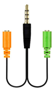 Splitter Adaptador 3.5mm Audio Separa Microfono Audifono Pc