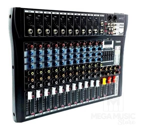 Mesa De Som Bluetooth Usb Mixer Mp3 Digital 12 Canais Tyt012