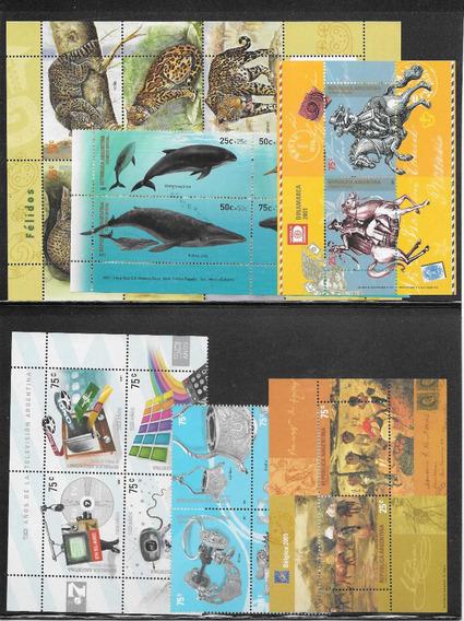 Argentina 2001 Año Completo (todos Los Sellos Y Blocks) Mint