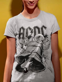 5c2ffa5d3f Camiseta Baby Look Feminina Banda Ac Dc Hells Bells
