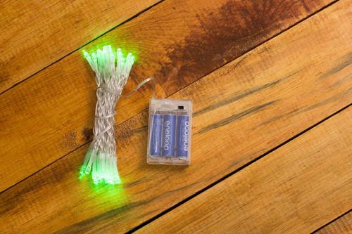 Imagen 1 de 1 de Serie Luces Navidad Con 30 Leds 3mt Pilas Luz Verde