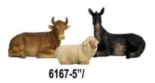 Animales Para Nacimiento 3pzas 6169-5 Mide 13cm