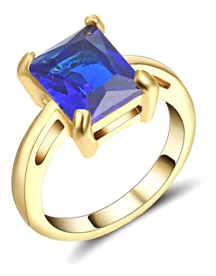 Anel Aliança Formatura Feminino Curso Pedra Azul Safira 416