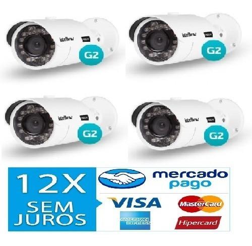 Kit 4 Câmeras Vhd 3130 B G2 Intelbras 12x Sem Juros