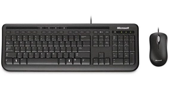 Kit Teclado E Mouse Microsoft Com Fio Desktop 600 3j200006