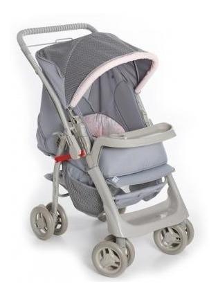 Carrinho De Bebê Para Passeio Galzerano Pegasus Pink Cinza