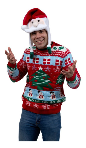 Imagen 1 de 1 de Suéter Ugly Sweater Árbol De Navidad Navideño