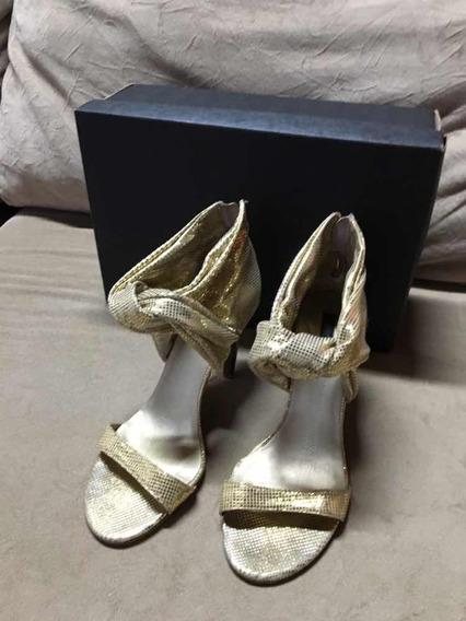Sandália Cristofoli Dourada Tam. 35 Usada