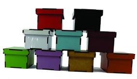 Lembrancinha Aniversário - Mdf Colorido 5,5x5,5x4 - 50 Und