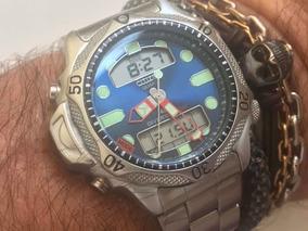 Citizen Aqualand Jp1010 Duplex C500 Blue Serie Prata Japan