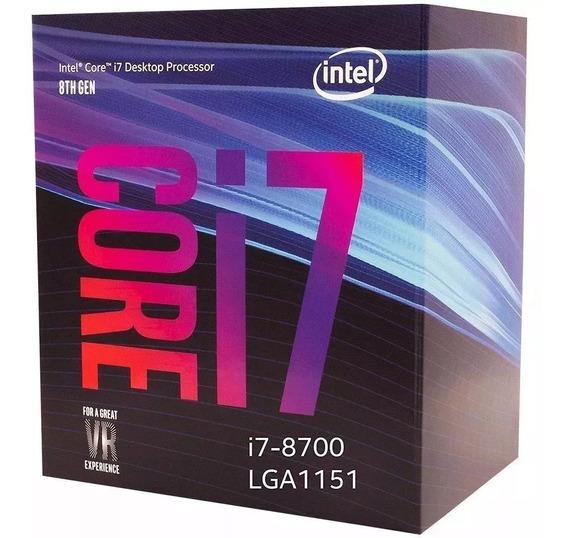Processador Intel Core I7-8700 Lg 1151 3,2ghz 12mb C/ Cooler