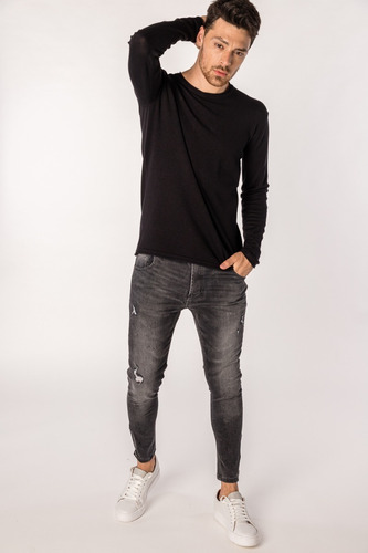 Imagen 1 de 5 de Sweater Tascani Daxico Negro Hombre Cuotas