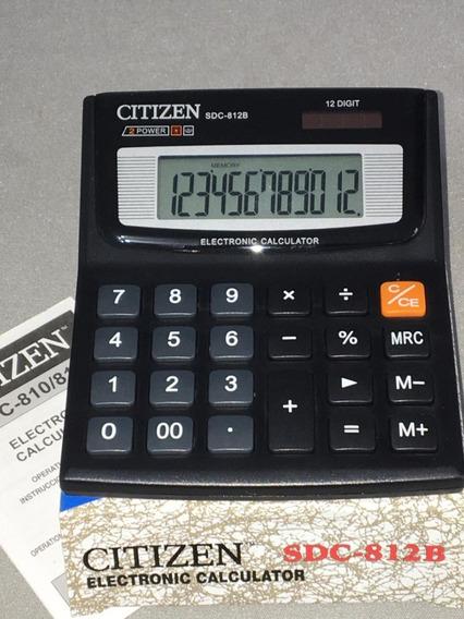 Calculadora Mesa Citizen Sdc - 812b 12 Dígitos Cx C/ 20 U