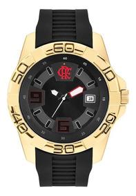 Relógio Clubes Technos Masculino Flamengo Dourado