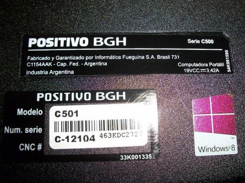 Repuestos Notebook Positivo Bgh C501