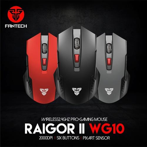 Mouse Gamer 6 Botones Inalambrico Ergonomico Fantech Wg10