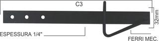Tranca De Porteira Aço Pintada 370mm N 131