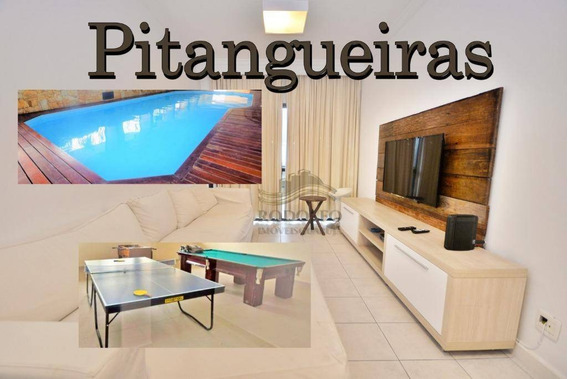 Guarujá Pitangueiras 2 Dts ( 1 Suíte) + Suíte De Empregada, Elevador, Sacada, Andar Alto, Lazer, 2 Vagas - Ap0941