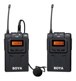 Microfone com acessórios Boya BY-WM6 condensador omnidirecional preto