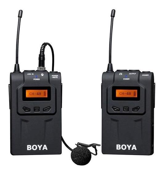 Microfone com acessórios Boya BY-WM6 condensador preto