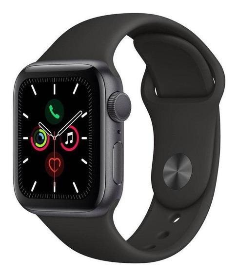 Apple Watch S5 (gps) Pulseira Esportiva Preta Mwv82lz