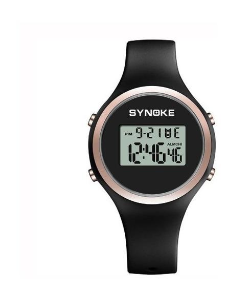 Relógio Feminino Led Digital Synoke Relógio Moda Top