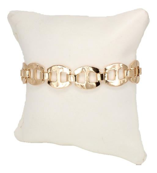 Pulsera Esclava De Mujer Gucci Chapa De Oro Lisa Accesorios