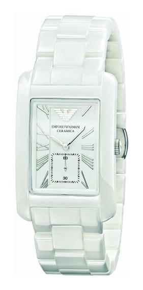Relógio Emporio Armani Ar1408 Cerâmica Branca Lindo Oferta