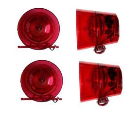 2 X Sirene Audiovisual 12v 24v Para Alarmes 120db C/ Led