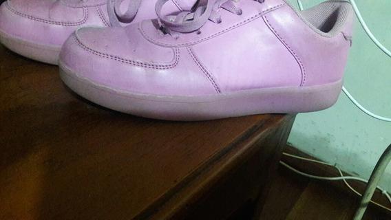 Zapatillas Led 47 Street Rosas Nro 36.una No Prende Completa