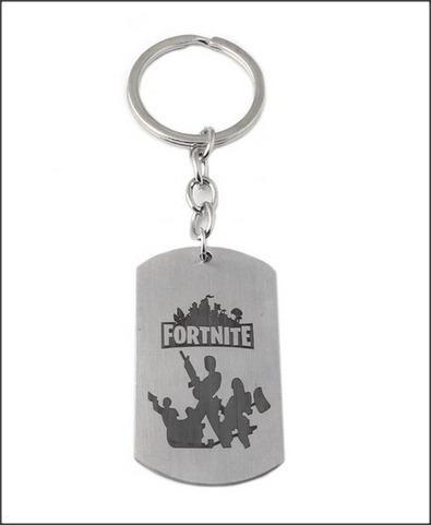 Fortnite Dog Tag Battle Royale Prata Chaveiro