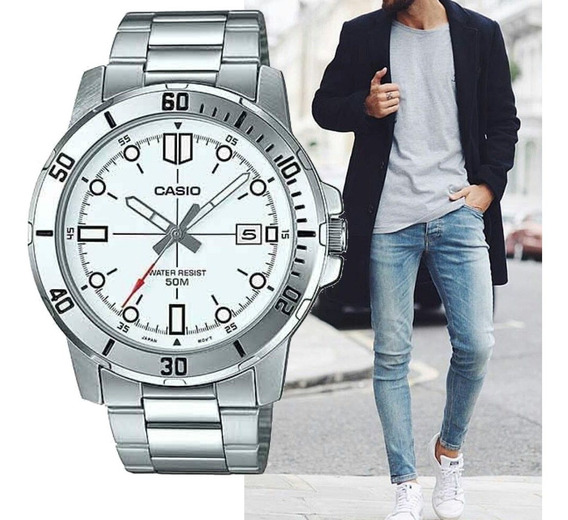 Relógio Casio Original Prateado Masculino Prova D´água
