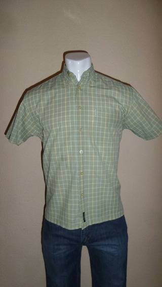 Camisa Manga Corta Ben Sherman Original Verde Sport Caballer