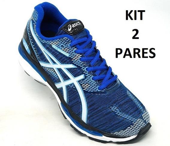 Tenis Asics Nimbus 20 Feminino Masculino Fitness Kit 2 Pares