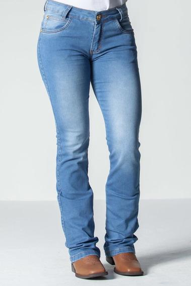 Calca Jeans Feminina Flare -stoney Wash
