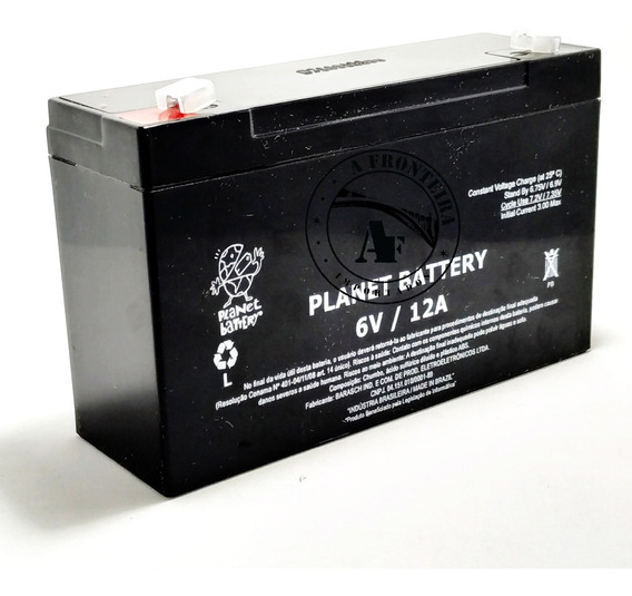 Bateria 6v 12ah Moto Elétrica Bandeirante Magic Toys Biemme