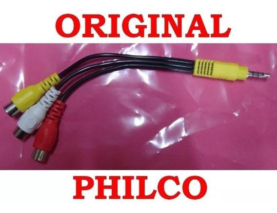 Cabo Adaptador Video Composto P2 Rca Philco 711480