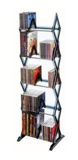 Librero Torre Dvd Cd Videojuegos 5 Niveles 130 Discos