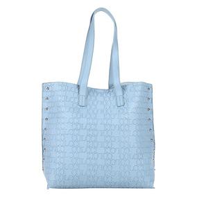 Bolsa Colcci Shopper Croco Tachas Feminina Azul Claro Origin