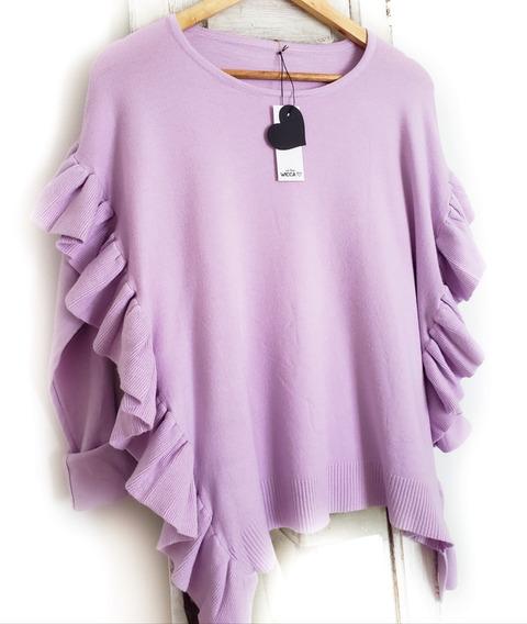 Sweater Mujer Bremer Con Volados