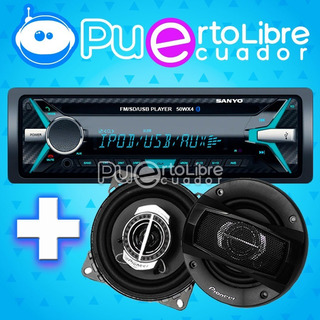 P O T E N T E Sanyo Radio Auto Bluetooth + Parlantes Pioneer