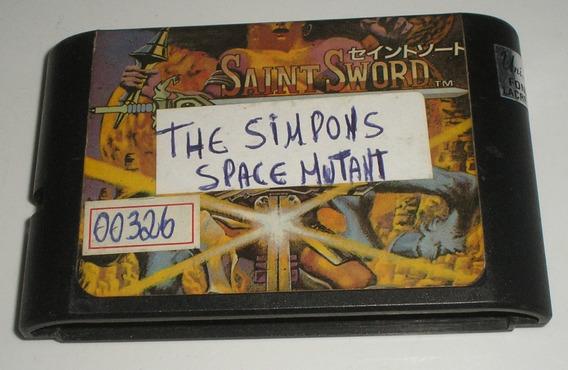 The Simpsons Bart Vs Space Mutant Mega Drive Paralela Usada